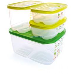 Набор контейнеров «Умный холодильник» (800 мл × 2 шт. / 1,8 л высокий / 4,4 л)