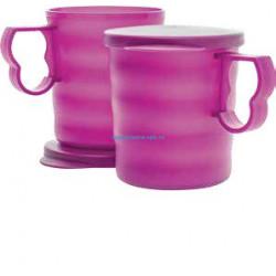 Кружки «Очарование» (350 мл), 2 шт. в фиолетовом цвете