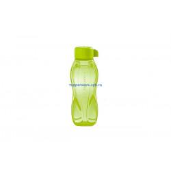 Эко-бутылка с винтовой крышкой (310 мл) в зеленом цвете
