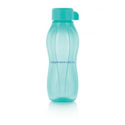 Эко-бутылка с винтовой крышкой (310 мл) в бирюзовом цвете