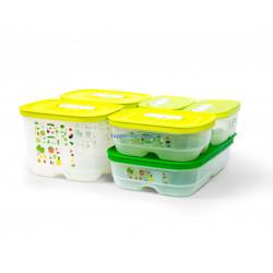 Набор контейнеров «Умный холодильник» (375 мл х 2шт/800 мл/1,8 л низкий/1,8 л высокий х 2шт)