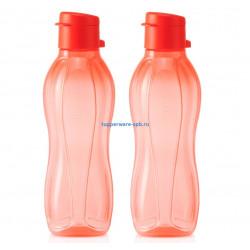 Набор Эко-бутылок (500 мл) в коралловом цвете