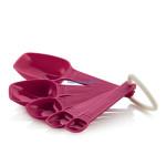 Набор мерных ложечек (1 мл до 25 мл) в розовом цвете