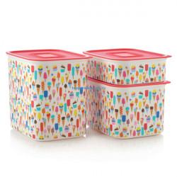 Набор контейнеров «Акваконтроль» «Мороженое» (500мл/ 1,3л/ 2,1л)